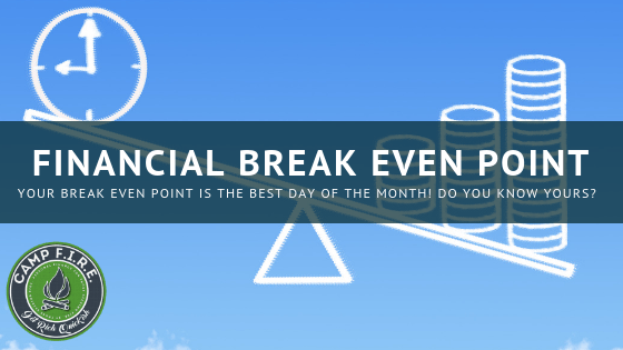Do you know your financial break even point?