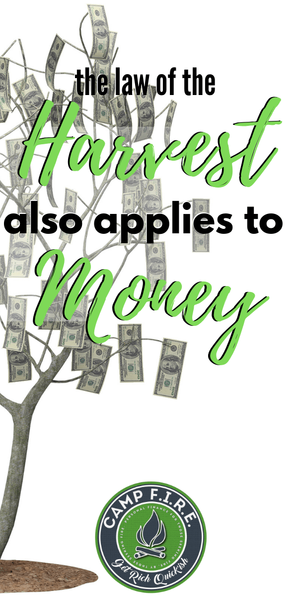 The law of the harvest might be #biblical in nature, but it also applies to your #personalfinances. You reap what you sow ... will you be prepared? #BibleMoney #Budget #FinancialPlan