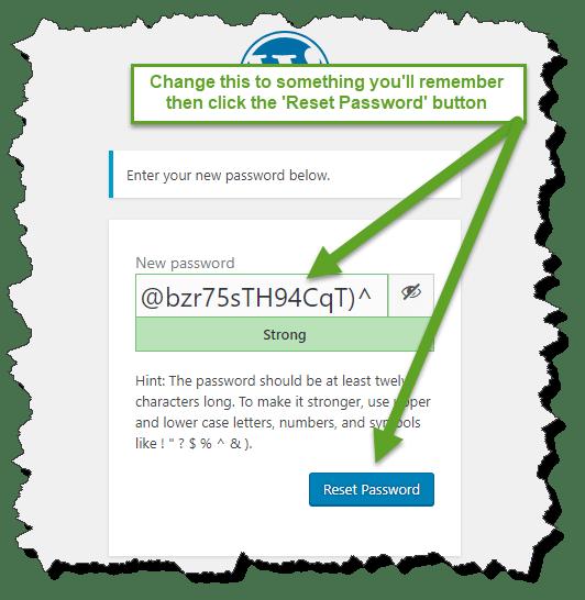 Step 2: Create a password