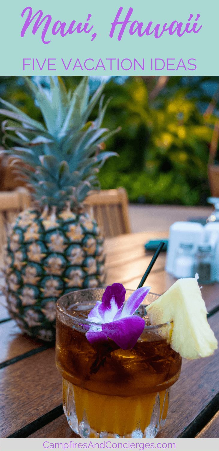 Mai Tai cocktail at Maui Luau