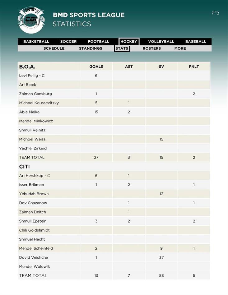16Hockey 1BOA - 2CITI Stats 28 AV