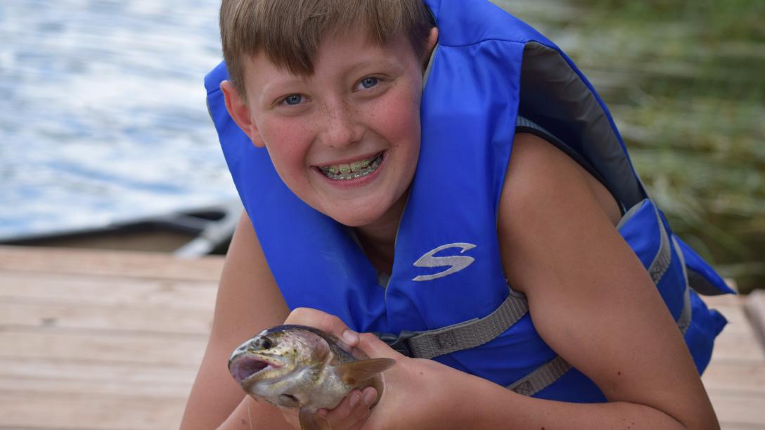 Fishing at Camp Granite Lake