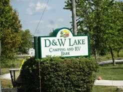 D&W Lake sign