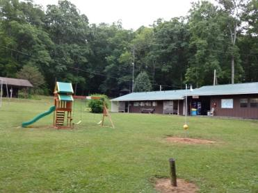 Flaming Arrow playground and laundry building