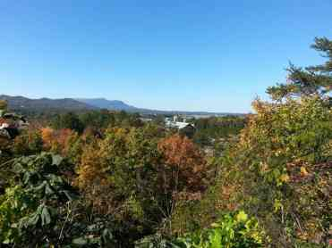 Alpine Hideaway Campground & RV Park in Pigeon Forge Tennessee View from Top of Hill