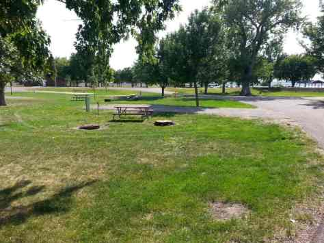 American Creek Campground in Chamberlain South Dakota Back In Site