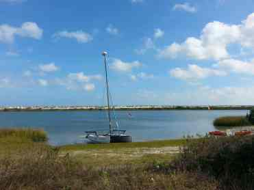 Anastasia State Park in St. Augustine Florida Water View