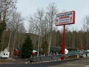 Arrow Creek Campground in Gatlinburg Tennessee Sign