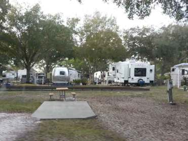 Bay Bayou RV Resort in Tampa Florida Backin
