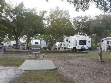 Bay Bayou RV Resort in Tampa Florida Backin