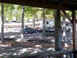 Branson View Campground in Branson Missouri Sites on terraces