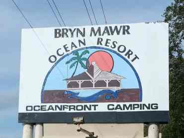 Bryn Mawr Ocean Resort in Saint Augustine Florida Sign