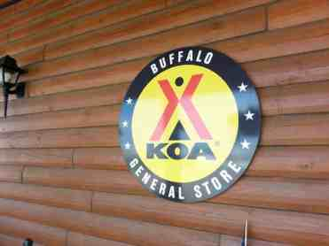 Buffalo KOA in Buffalo Wyoming Sign