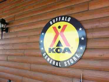 Buffalo KOA in Buffalo Wyoming Sign
