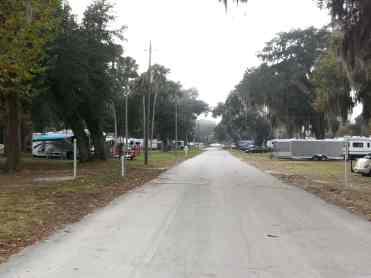 Bulow RV Resort in Flagler Beach Florida Roadway