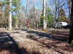 Cades Cove Campground in the Great Smoky Mountains National Park near Townsend Tennessee Tent Pad