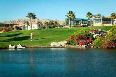 Caliente Springs RV Resort in Desert Hot Springs California Golf