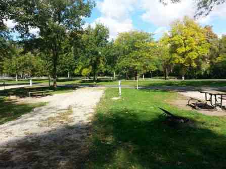 Clear Lake State Park in Clear Lake Iowa Pull thru site Full Hookups