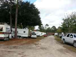 Cooksey's RV Park in Saint Augustine Florida Roadway