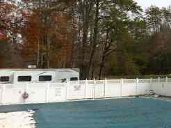 Adventure Bound Camping Resorts Crazy Horse Campground in Gatlinburg Tennessee Pool (closed for season in this picture)