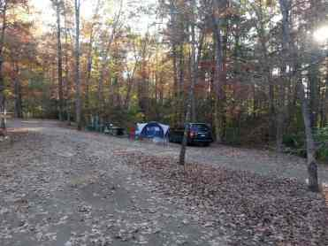 Cumberland Mountain State Park in Crossville Tennessee full hookup tent