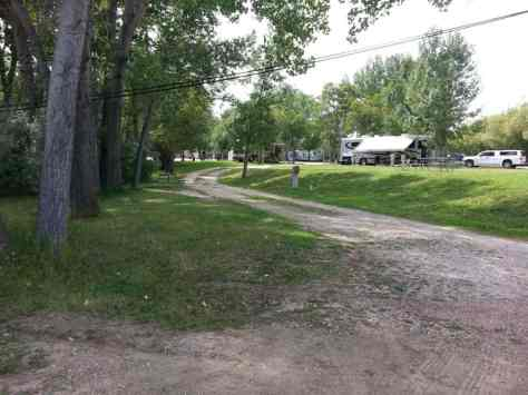 Deer Park RV Park and Campground in Buffalo Wyoming Pull thru