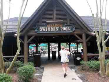 The Campsites at Disney's Fort Wilderness Resort in Lake Buena Vista Florida Pool Entrance