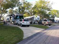 Dunedin RV Resort in Dunedin Florida Pull thru