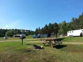 Elk Haven Horse Campground in Keystone South Dakota Pull thru