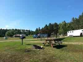 Elk Haven Horse Campground in Keystone South Dakota Pull thru