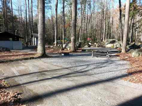 Elkmont Campground in the Great Smoky Mountains National Park near Gatlinburg Tennessee Small Backin