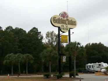 Golden Isles RV Park in Brunswick Georgia Sign