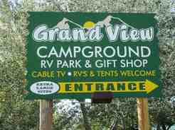 Grandview Camp and RV Park in Hardin Montana Sign