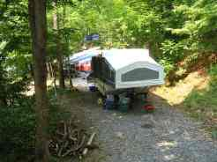 Greenbrier River Campground in Alderson West Virginia Pop Up Site