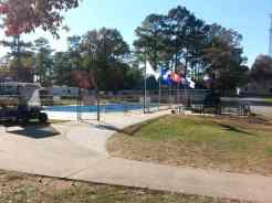 Harvest Moon RV Park in Adairsville Georgia Pool (closed for season in this photo)