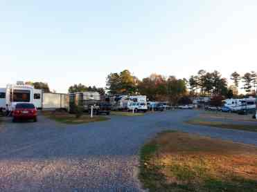 Harvest Moon RV Park in Adairsville Georgia Roadway