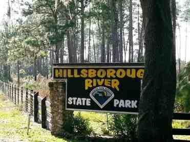 Hillsborough River State Park in Thonotosassa Florida Sign