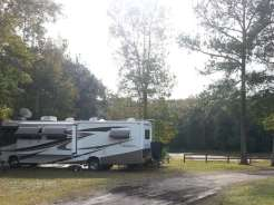 Indian Forest Campground in Saint Augustine Florida Site by Pond