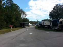 International RV Park and Campground in Daytona Beach Florida Roadway