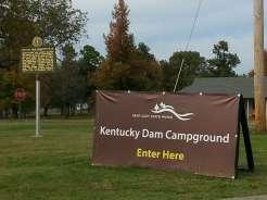 Kentucky Dam Village State Resort Park in Gilbertsville Kentucky Sign