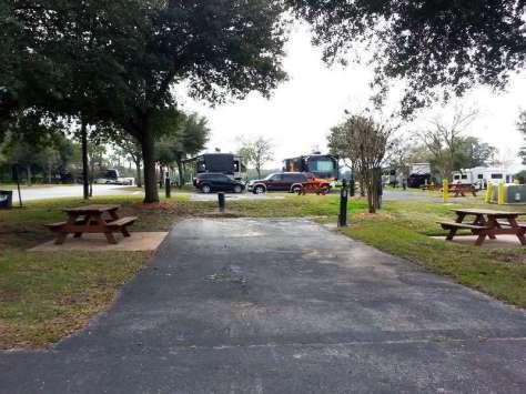Lazydays RV Resortin Seffner Florida Backin