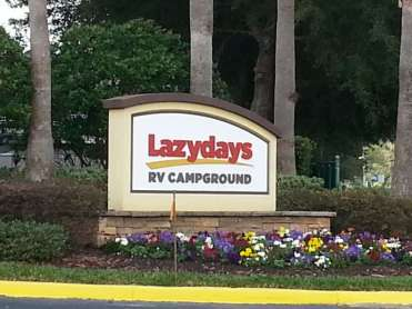 Lazydays RV Resortin Seffner Florida Sign