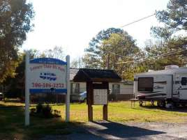 Leisure Time RV Park in Adairsville Georgia Sign