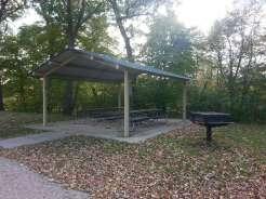 Margaret MacNider Campground in Mason City Iowa Pavilion