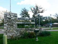 Margaret MacNider Campground in Mason City Iowa Sign