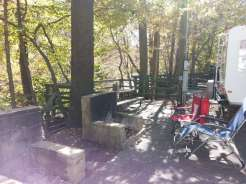 Mountaineer Campground in Townsend Tennessee Backin overlooking the river