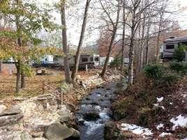 Outdoor Resorts at Gatlinburg near Gatlinburg Tennessee Creek