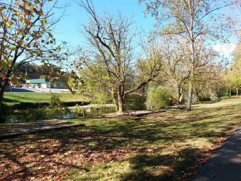 Pigeon Forge / Gatlinburg KOA in Pigeon Forge Tennessee creekside