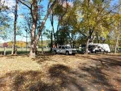 Pigeon Forge / Gatlinburg KOA in Pigeon Forge Tennessee backin against park