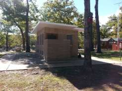 Port of Kimberling Marina RV Park and Campground in Kimberling City Missouri restroom
